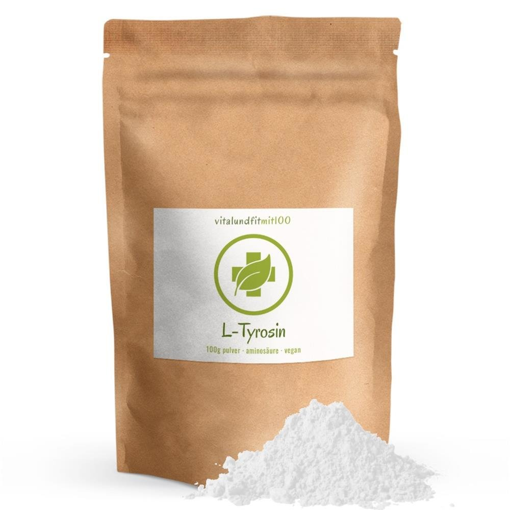 250-750g L-TYROSIN PULVER Pulver+Vitamin B6 Muskelaufbau Gehirnleistung vegan